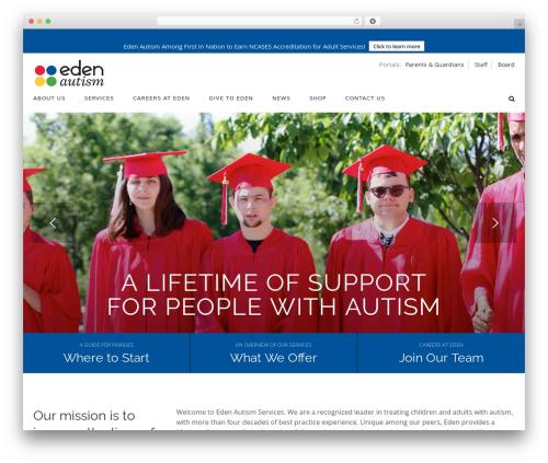 WordPress theme Born To Give - edenautism.org