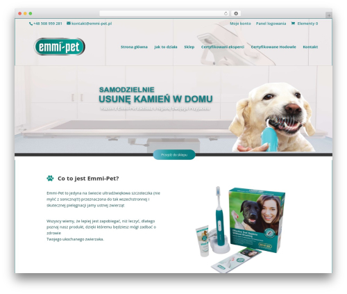 Divi premium WordPress theme - emmi-pet.pl