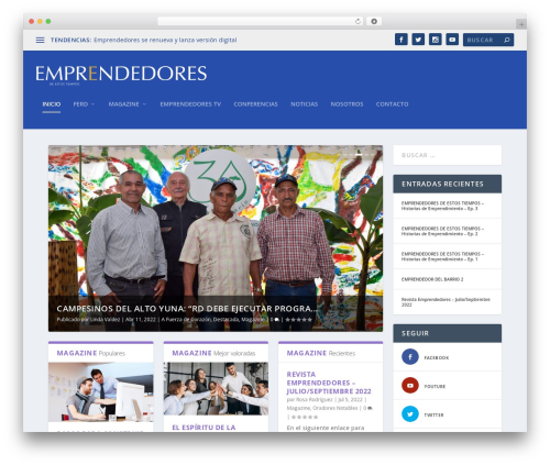 Extra theme WordPress - emprendedores.com.do