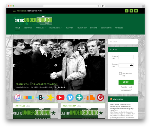 Extra WordPress blog theme - celticunderground.net
