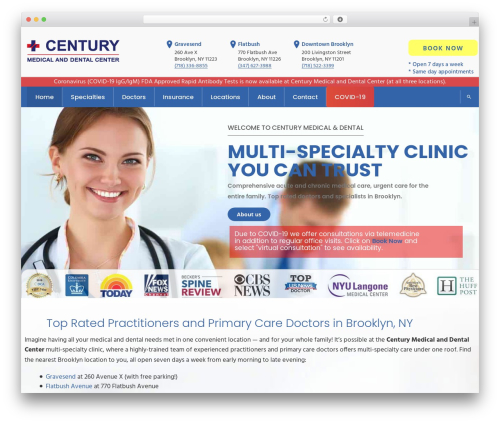 InMedical medical WordPress theme - centurymedicaldental.com
