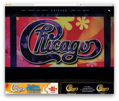 Lucille WordPress page template - chicagotheband.com