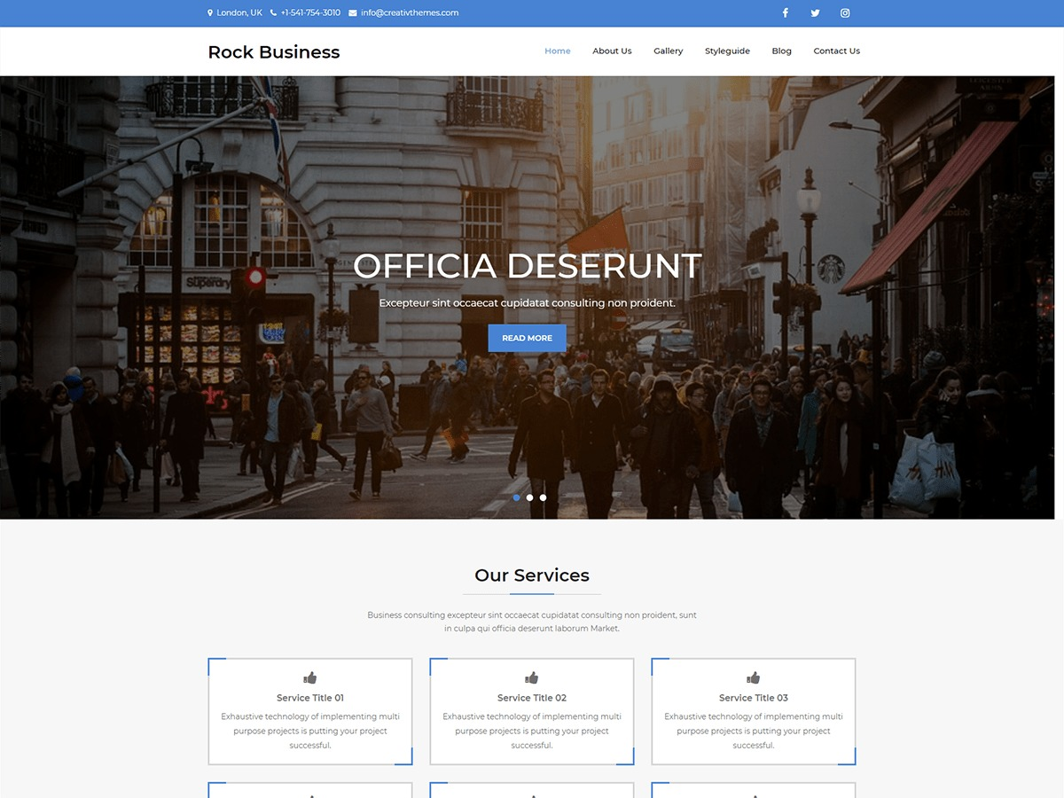 Rock Business business WordPress theme