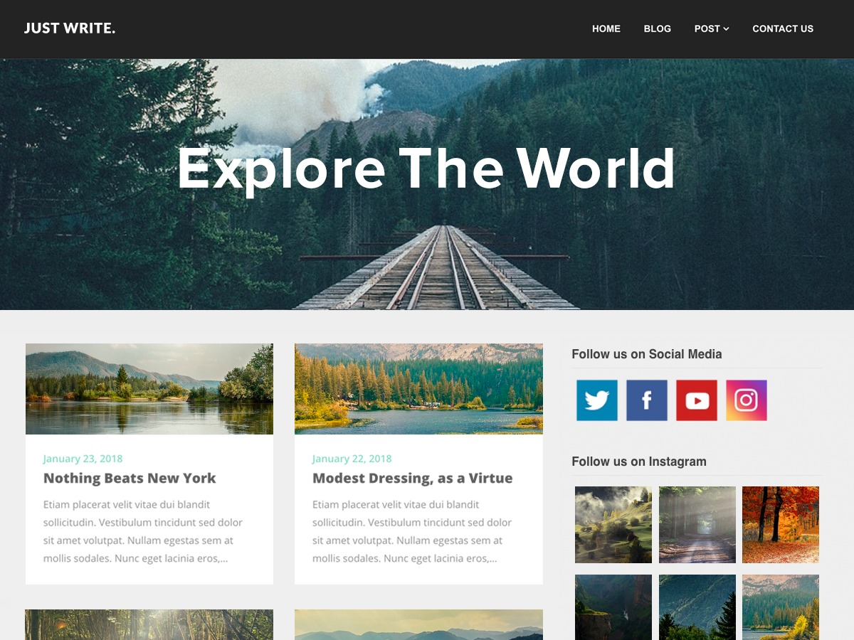 SEO Writers Blogily WordPress magazine theme