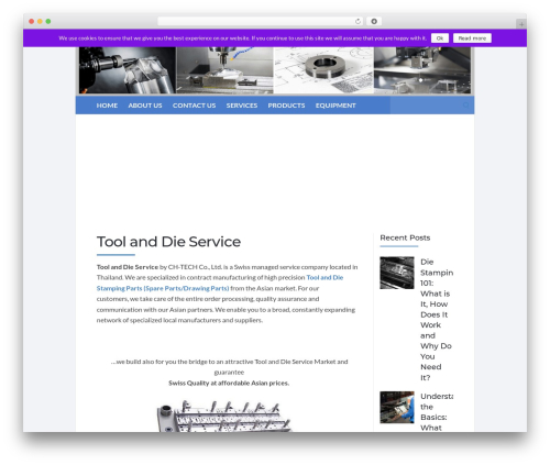 Socrates v5 WordPress template for business - ch-tech.ch