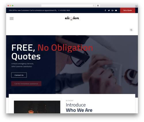 Tectxon company WordPress theme - elcolem.com
