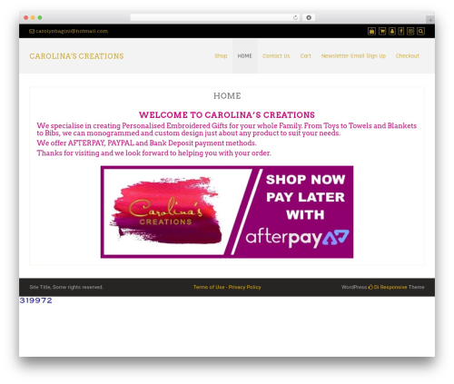 Theme WordPress Di Responsive - carolinascreations.com.au