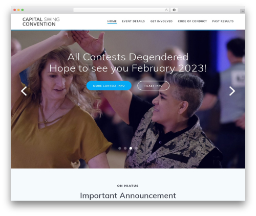 Theme WordPress Mesmerize PRO - capitalswingconvention.com