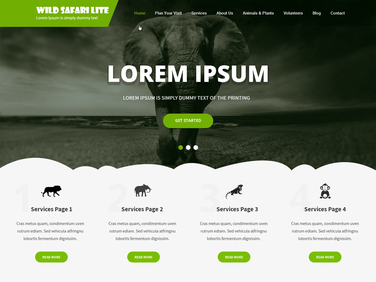 Wild Safari Lite WordPress shopping theme