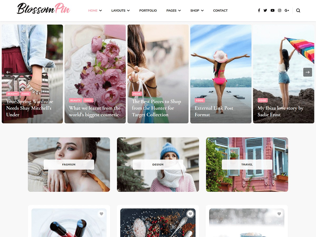 Blossom Pin Pro WordPress portfolio theme