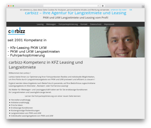 BlueGray WordPress template - carbizz.de
