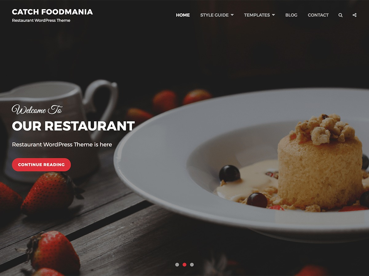 Catch Foodmania business WordPress theme