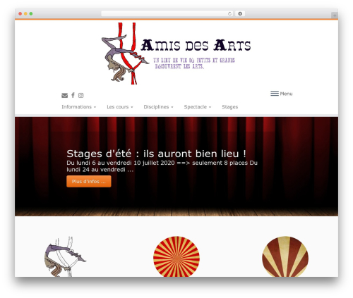 Customizr free WP theme - amis-des-arts.info