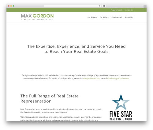 Divi best real estate website - maxgordonrealestate.com