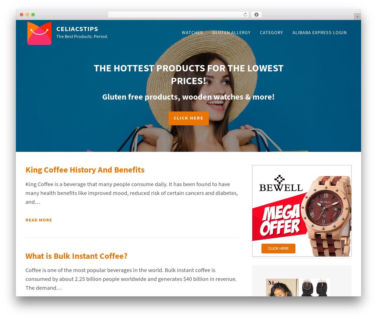 FastBlog WordPress theme download - celiacstips.com