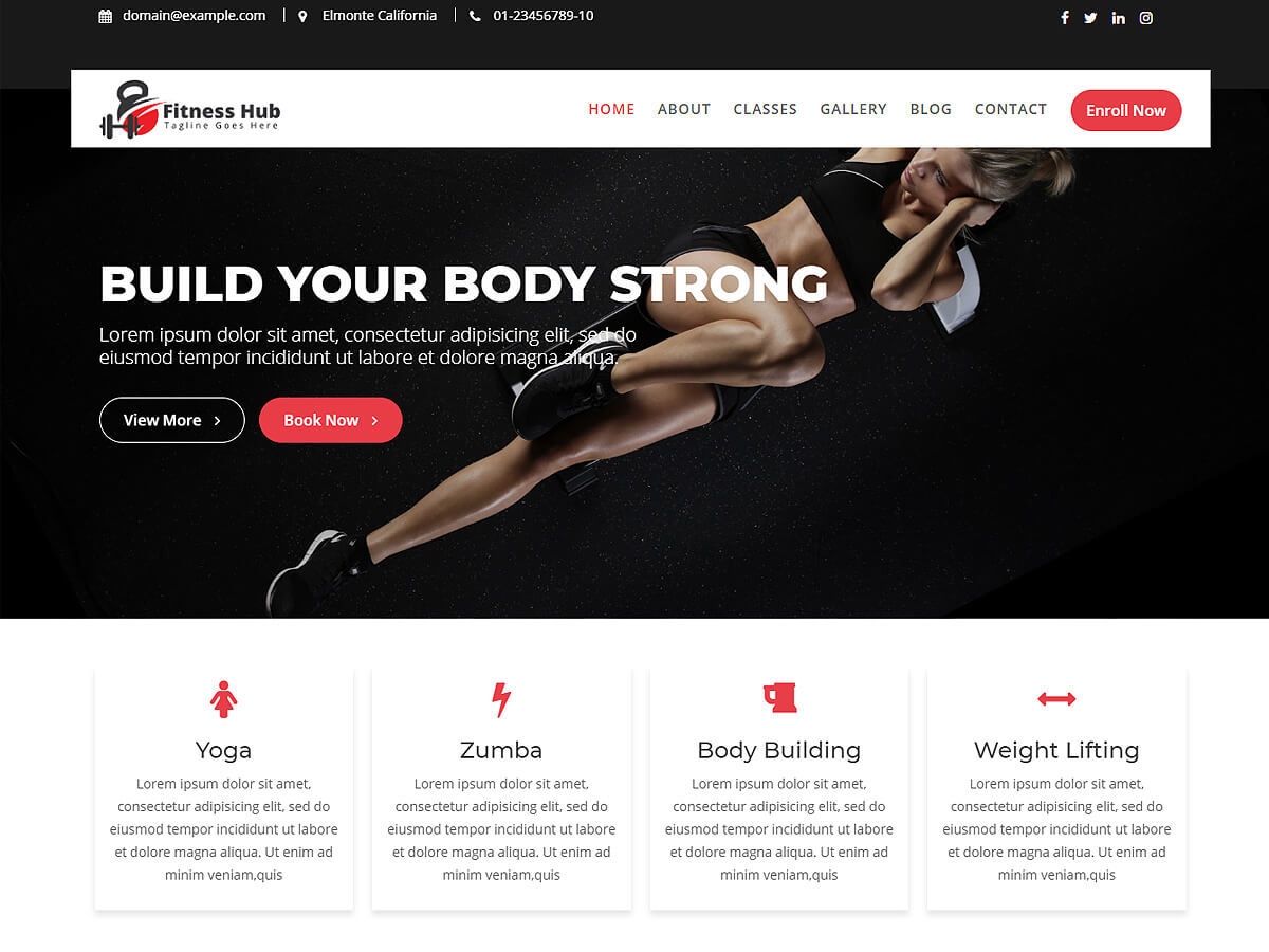 Fitness Hub best WooCommerce theme