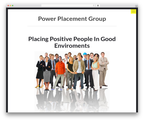 hexo WordPress theme design - powerplacementgroup.com