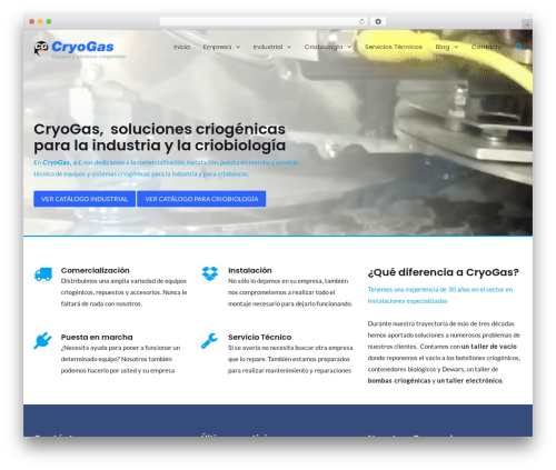 MedZone Lite WordPress theme - cryogas.es