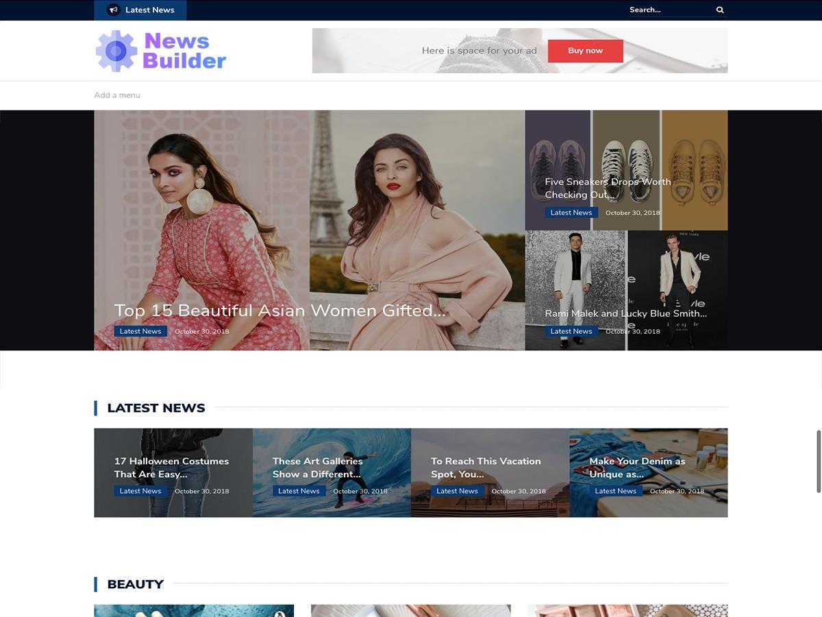 Newsbuilder WordPress news template