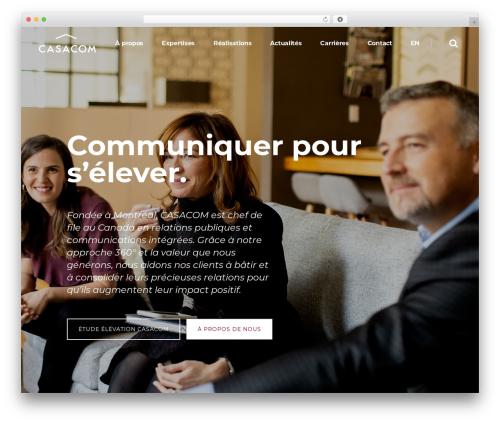 Pitch WordPress template - casacom.ca