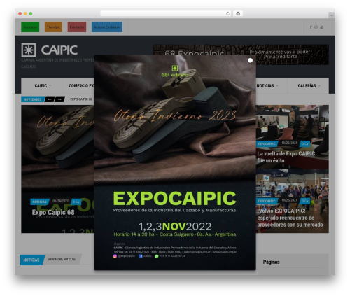 Public Opinion WordPress theme design - caipic.org.ar