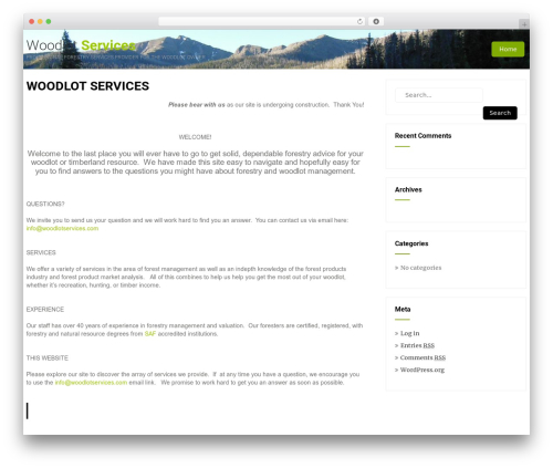 WordPress website template Eco Friendly Lite - woodlotservices.com