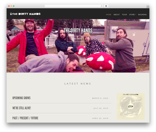 Berliner WordPress theme - thedirtyhandsmusic.com