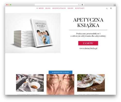 Bridge WordPress theme - dariarybicka.pl