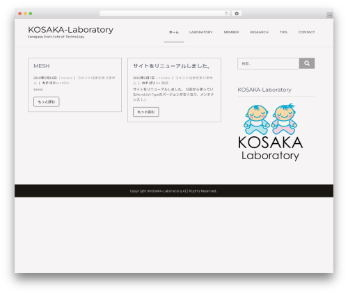 Showcase Lite free WP theme - kosaka-lab.sakura.ne.jp