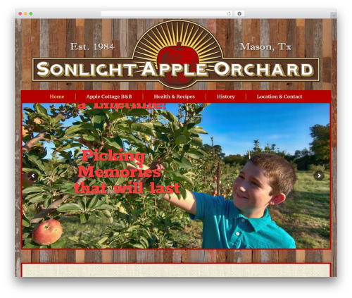 The7 WordPress theme - sonlightappleorchard.com