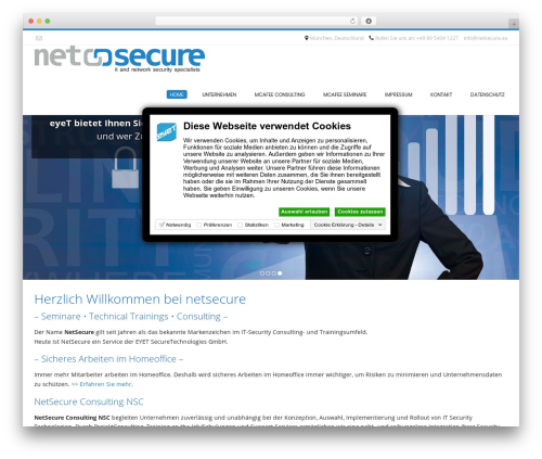Theme WordPress Conica - netsecure.eu