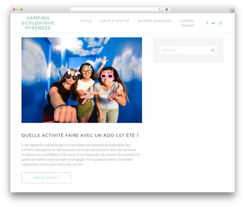 TheMotion Lite free WordPress theme - camping-ecologique-pyrenees.com