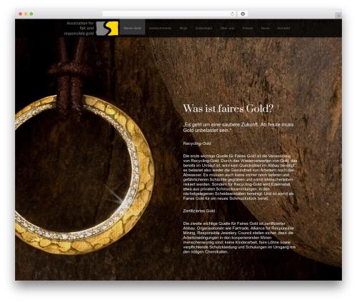 WordPress theme Encore - fair-mined-gold.org