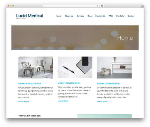 Ascension medical WordPress theme - lucidmedical.net