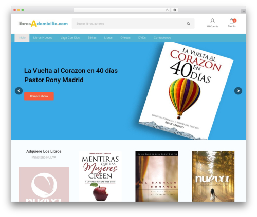 Bookstore WordPress shop theme - librosadomicilio.com