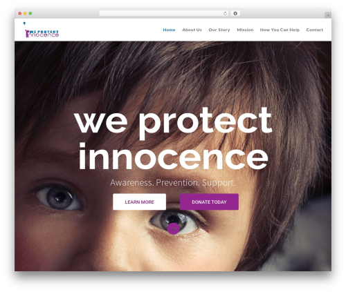 Divi WordPress theme - weprotectinnocence.org