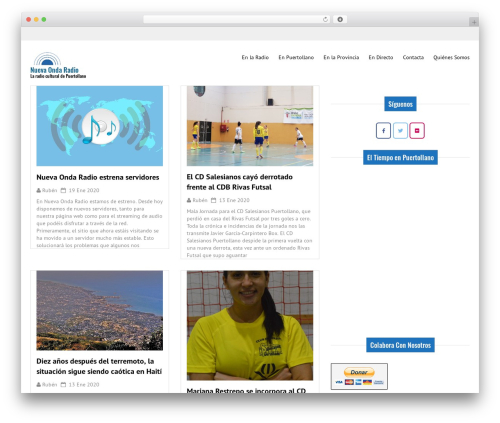 Good News Lite WordPress website template - nuevaondaradio.com