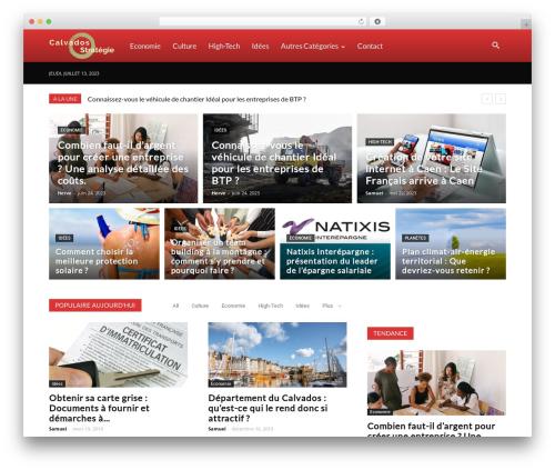 Newspaper WordPress news template - calvados-strategie.com