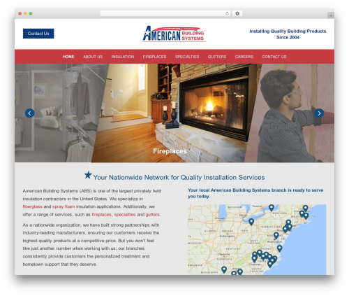 _novel WordPress theme - american-building-systems.com