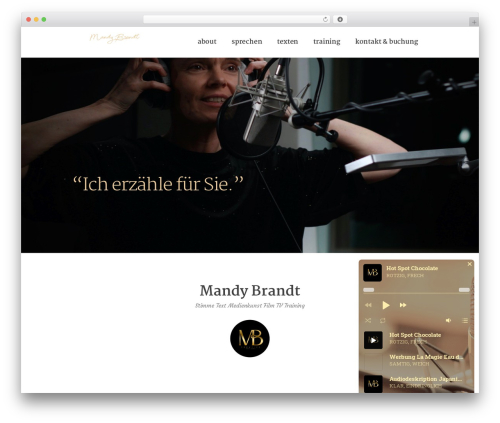 RyanCole WordPress theme - mandybrandt.com
