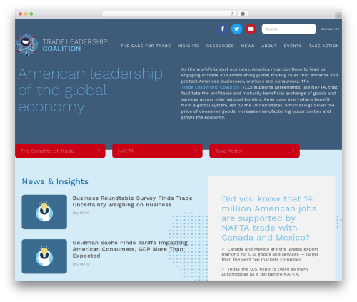 TLC WordPress theme - tradeleadershipcoalition.org