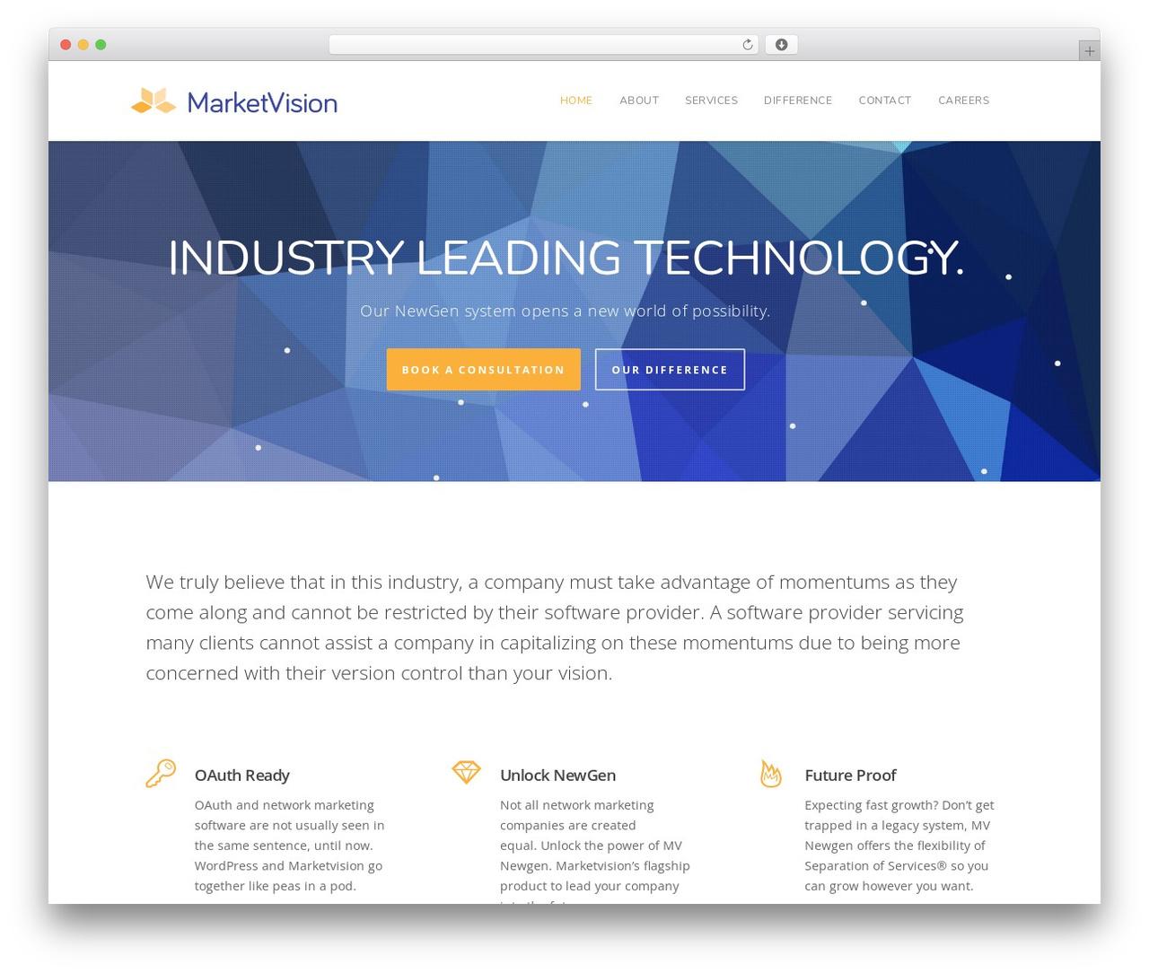 WP theme Salient - marketvision.com