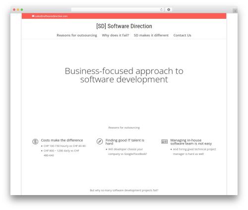 Divi WordPress template - softwaredirection.com