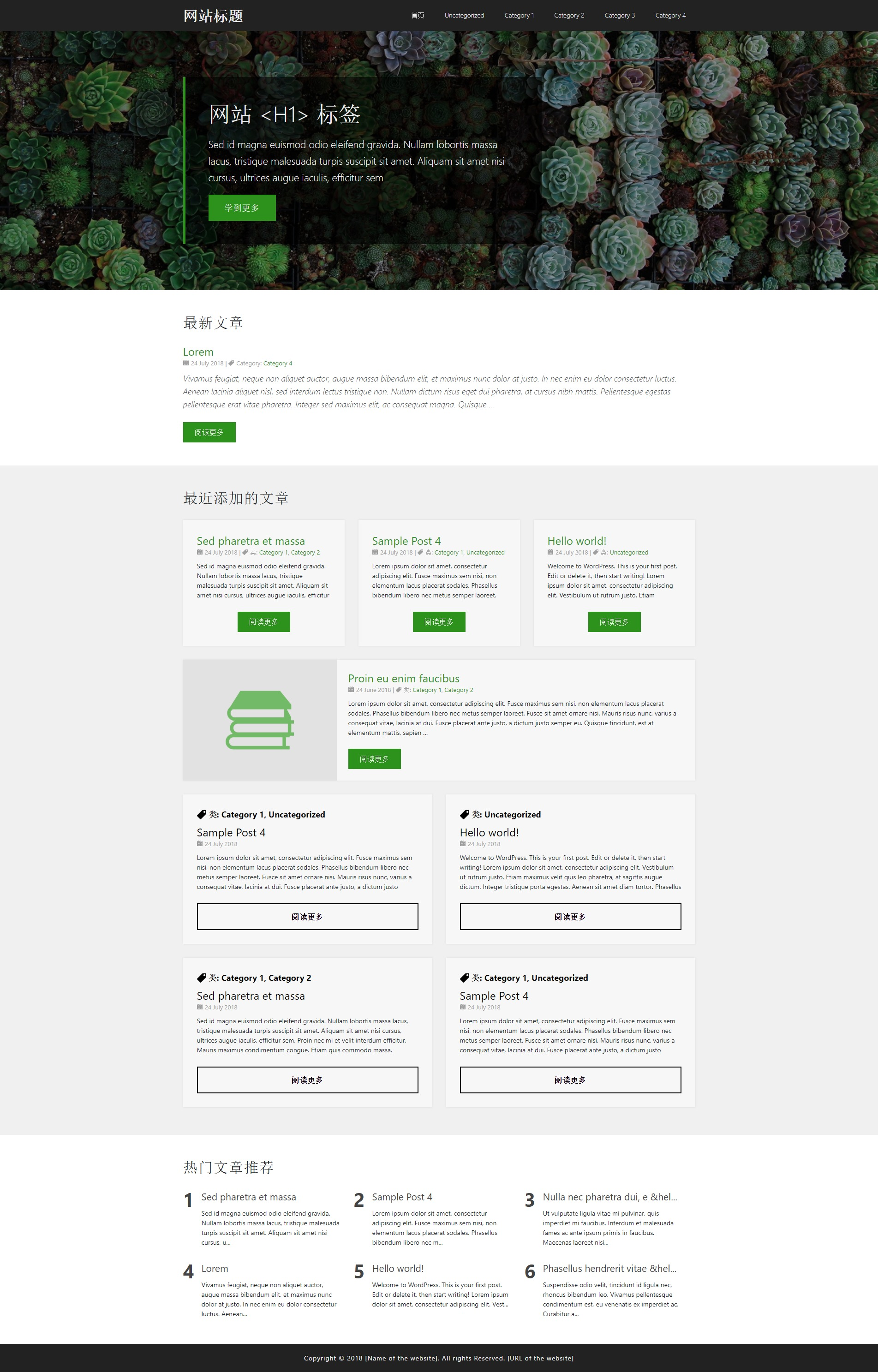 template4 WordPress template for business