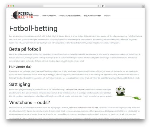 Theme WordPress Kora WP - fotboll-betting.se