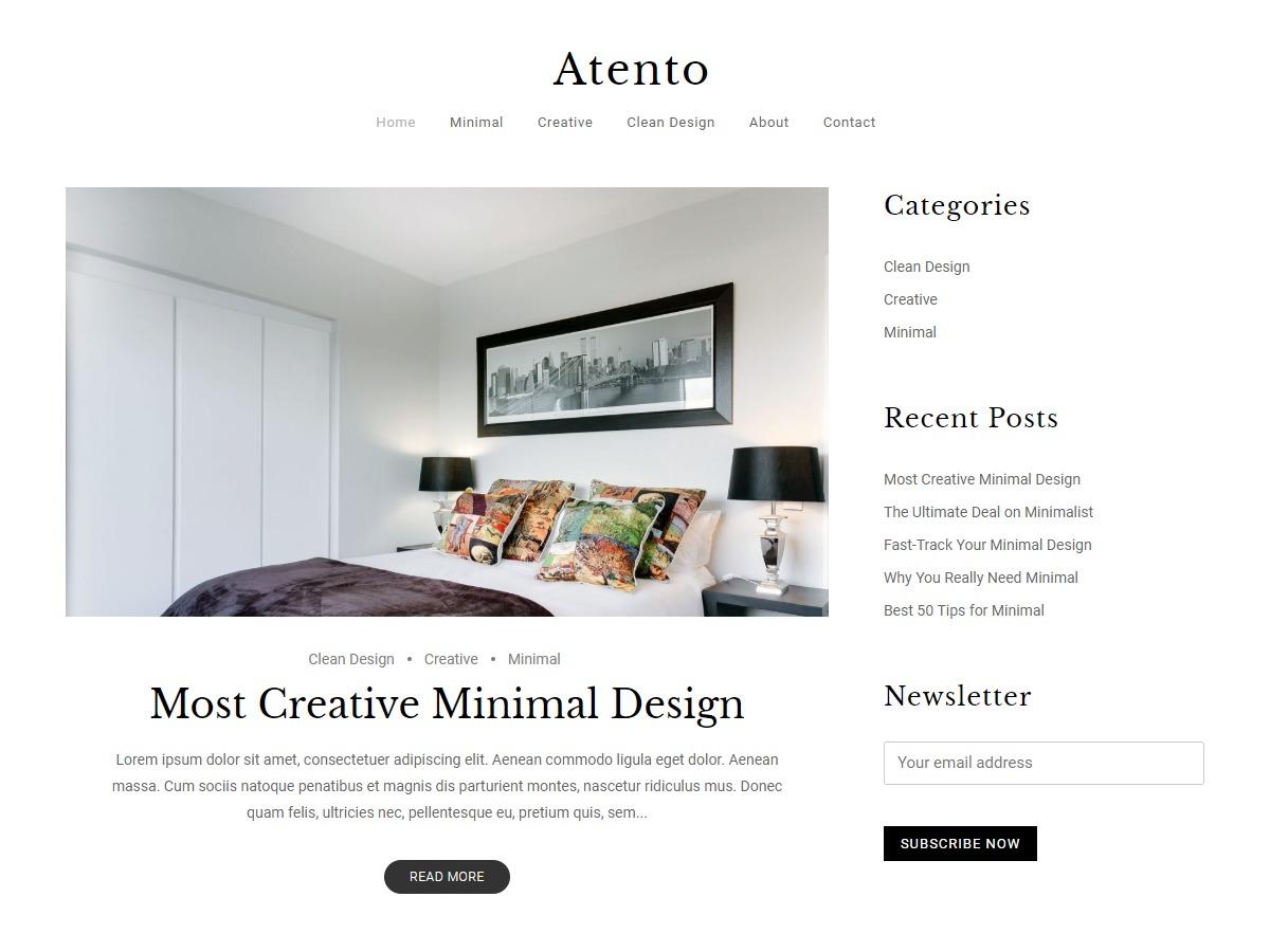Atento WordPress template for photographers
