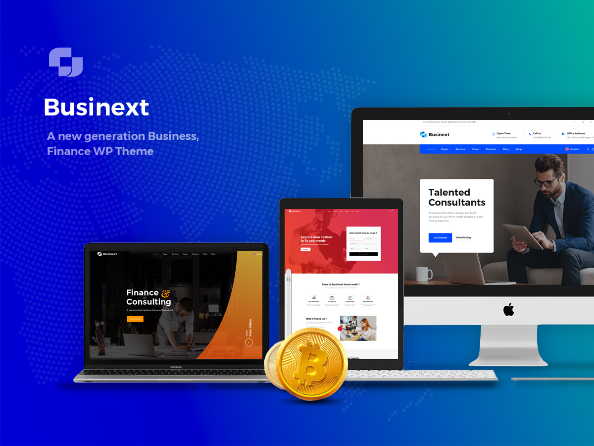 Businext WordPress template for business