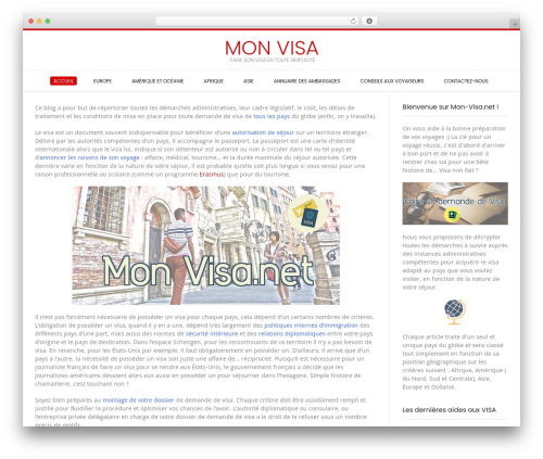 Conica best free WordPress theme - mon-visa.net