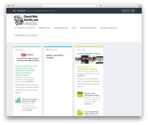 Extra theme WordPress - churchwebtoolkit.com