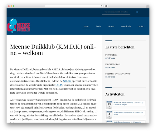 NavyBlue top WordPress theme - meenseduikklub.be